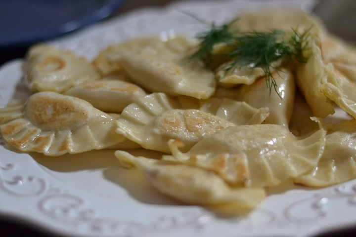 Home-made pierogi