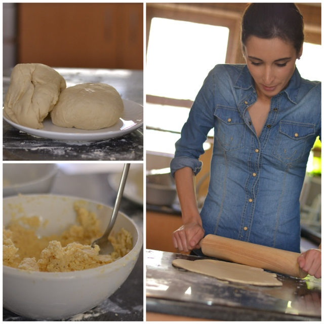 Making home-made pierogi - step-by-step