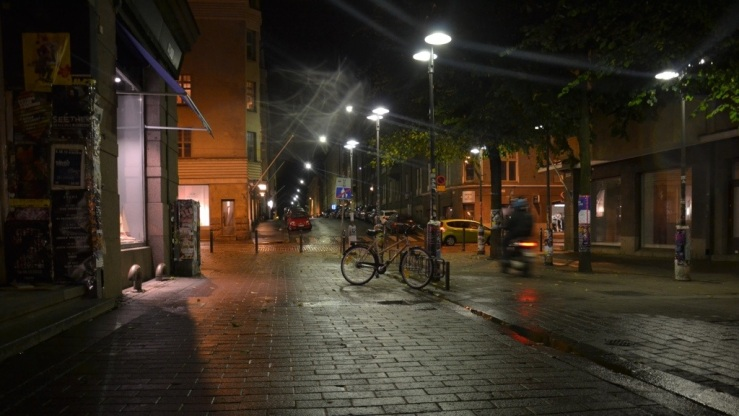 Streets of Helsinki at night, Finland