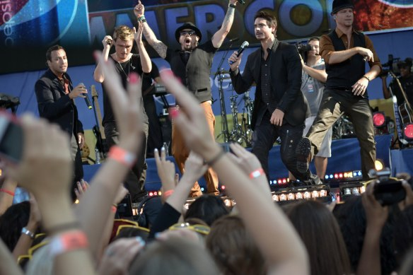 Backstreet Boys Concert Central Park Goodmorning America 2012