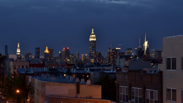 New York evening views from  Williamsburg Brooklyn