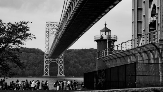 Little red lighthouse, NYC, Hudson River, George Washington Bridge