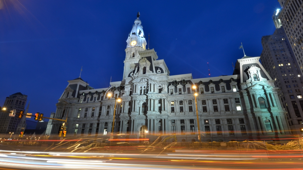 Philadelphia City Hall night