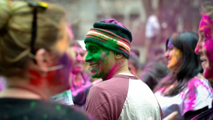 Holi festival New York City 2013