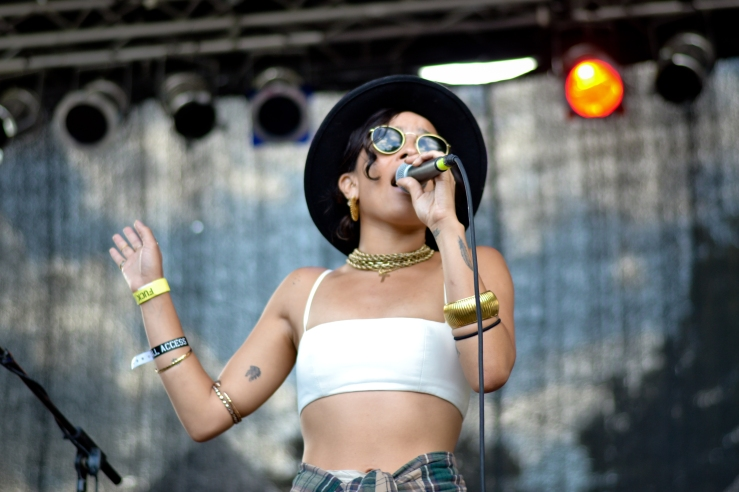 Lolawolf at Afropunk festival 2014 Brooklyn new York