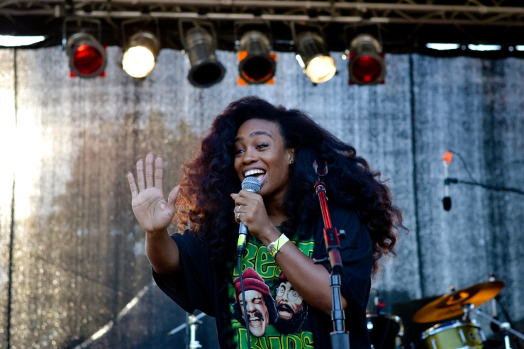 SZA at Afropunk festival 2014 Brooklyn new York